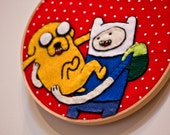 Adventure Time Finn & Jake Hand-Embroidered Wall Decor