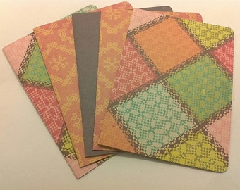 Quilted Card Set/ blank note card set