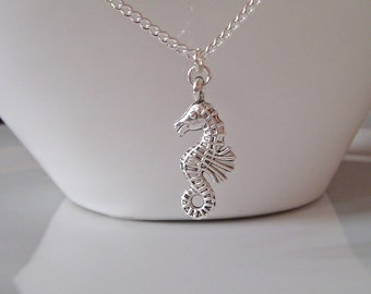 Seahorse Necklace, Silver Seahorse Necklace, Silver Necklace, Seaside Necklace, Gifts for Girls, Bridesmaid Gifts, Under the Sea Gifts, BFF