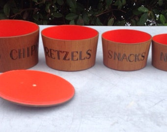 Mint 1970s Viking Handmade Mint Nesting Snack Bowls Full Set
