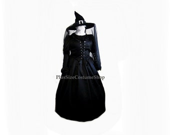 Deluxe WICKED WITCH Plus Size Halloween Costume Adult Womens 1X 2X 3X 4X 5X - 6 pcs New - Wizard of Oz