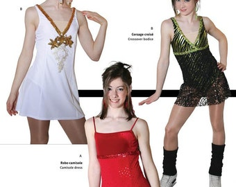 Jalie Figure Skating Dress with Attached Leotard Sewing Pattern # 2674 in 22 Sizes Women & Girls