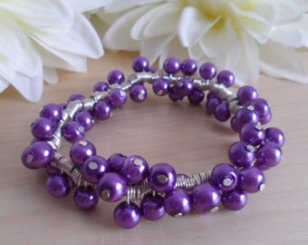 Lilac Spiral Bracelet