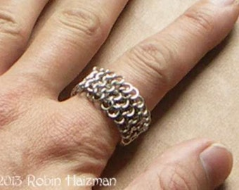 European 4 to 1 Chain Maille Ring size 9.75