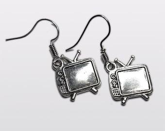 Geek Chic Retro TV Television  earrings
