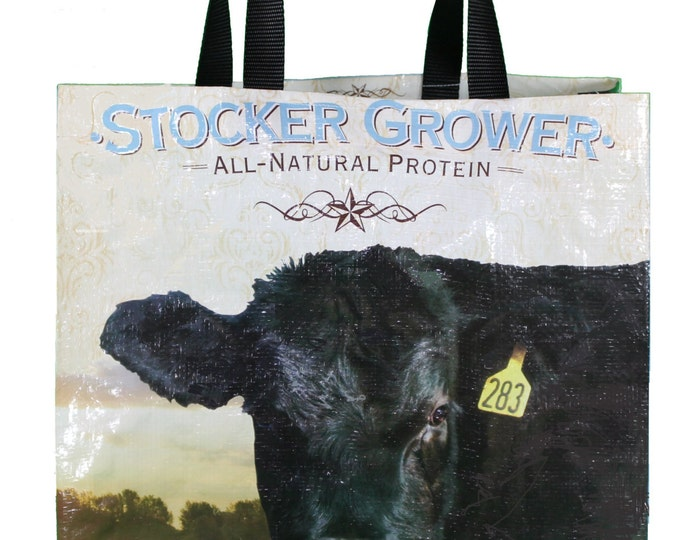 Recycled Feed Bag Tote,  Purina Stocker Grower