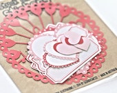 Doily Heart Sticker Pack in Red and Pink - Gloriousmess
