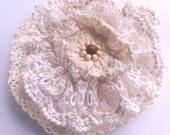 Rustic Wedding accessory mori girl lace hairpiece bridal brooch bohemian hairpin