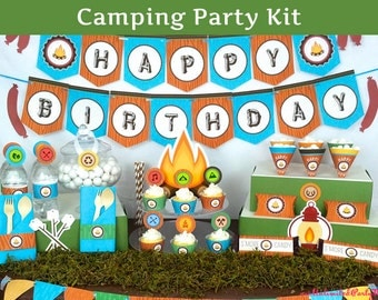 Camping Party Decoration - Camping Birthday Party Decorations - Camping Party Kit