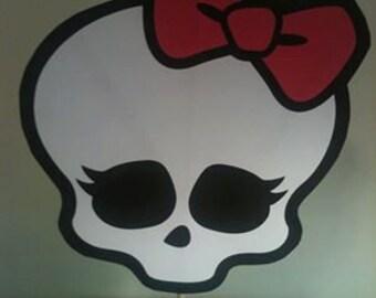 Monster High Skull with Dowel Rod