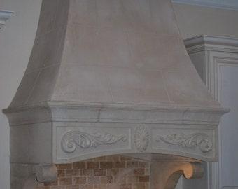 Cast Stone limestone Kitchen HOOD mediterranian traditional style any size available