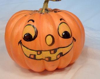 Halloween Jack-o-lantern - Decorative pumpkin - centerpiece - party decoration - pumpkin - Trick or Treat - Painted Pumpkin