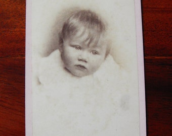 Carte De Visite portrait of a baby