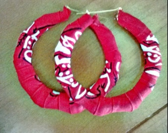New Red Bandana Earrings