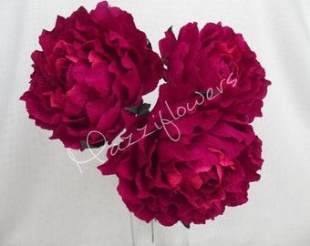 Bridal flower,wedding flower,paper flower peonies,wedding peony,peonies bridal,bridesmaids  bouquet,bridal peony,flower paper 3 pcs.