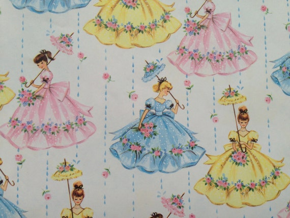 Wedding Gift Wrapping: Vintage Gift Wrapping Paper Bridal Shower Or Wedding