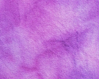 PURPLE  hand dyed and felted wool for rug hooking and other fiber arts projects