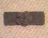 Women's Crochet Flower Headband Headwarmer for Fall or Winter Custom