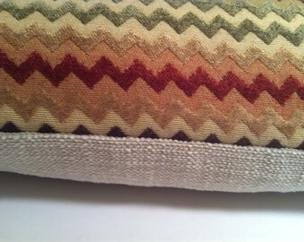Colorful zig zag pillow cover