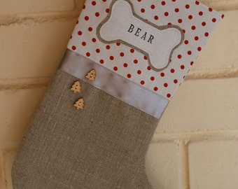 Pet christmas stocking - personalized