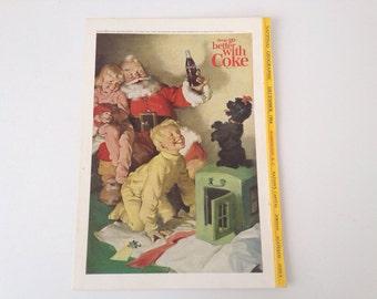 1964 Coca-cola ad featuring Santa