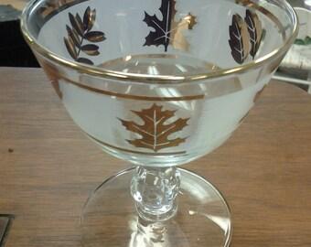 On Sale Anchor Hocking Gold Leaf Sherbert Glass