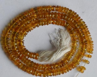 Yellow Tourmaline shaded Faceted Beads 14 inch Strand