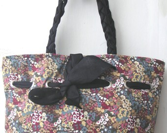 CLOSING SALE - Samll Flowers Printed Shoulder Bag,Purse,Handbag,Tote,College Bag,Shopping Bag