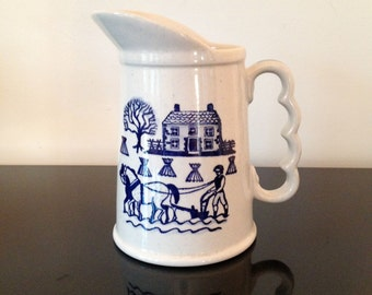 Metlox Poppytrail Homestead Milk Pitcher Blue