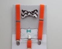 baby boy bow tie and suspender..boy bow tie suspender set..children bow tie.. baby boy suspenders..kids bow tie set..boy photo prop..summer
