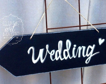 Wedding chalkboard arrow sign