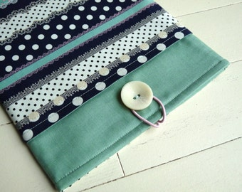 iPad Case, iPad Sleeve, iPad Cover - iPad 2 Sleeve  iPad 3 Sleeve - iPad 4 Sleeve - Apple iPad - Navy/Teal