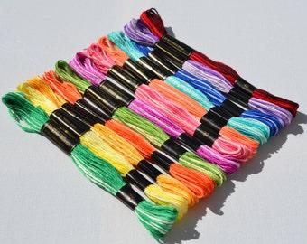 12 skeins of variegated thread