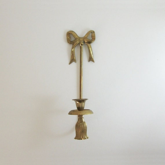 Wall Sconces Etsy : Vintage Brass Wall Sconce Brass Candle Holder by LastCentury
