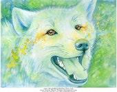 Wolf Eyes - Original Ink Painting