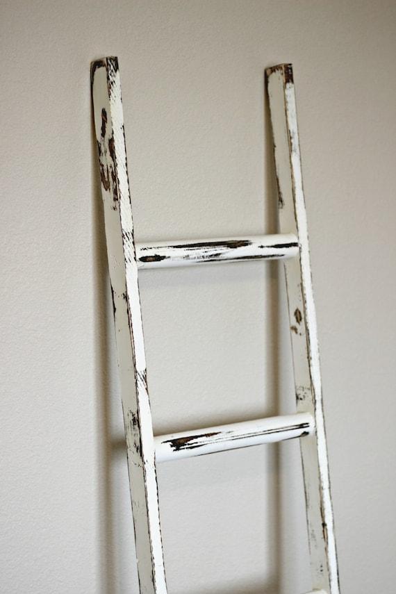 Ladder Vintage Rustic Blanket Ladder By Linenandlaceshop
