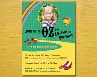 Wizard of Oz Invitation with Photo