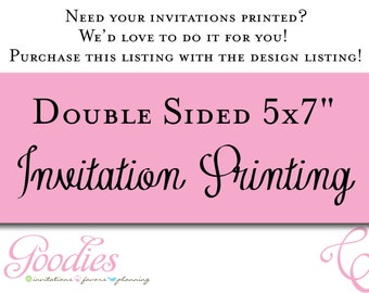 "Double Sided Printing - 5""x7"""