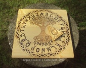 Wood Spirit Board/Ouija Board, Handmade Tree of Life and Celtic Knot design
