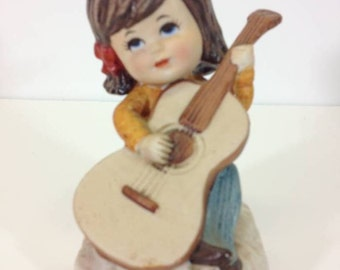 Moppets Girl Playing Her Guitar - Vintage 1970s