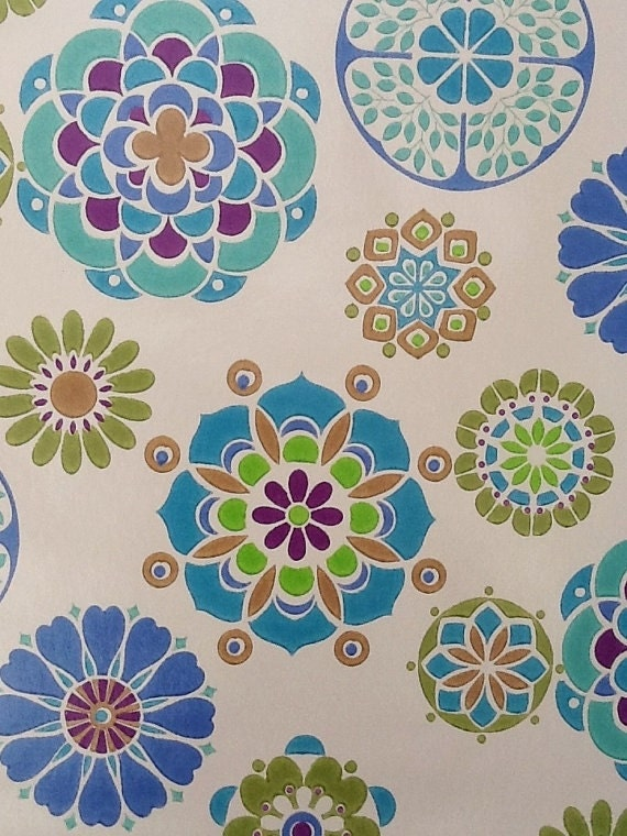 Sale 1970 39 s roll of retro wallpaper by vintagesheetaddict for Wallpaper rolls for sale