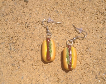 Hot Dog Earrings