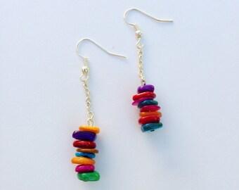 Fun and Colorful Drop Earrings