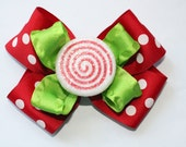 Christmas bow, red and green bow