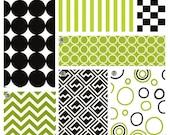 Items similar to crib bedding black and lime green baby - Black and lime green bedding ...