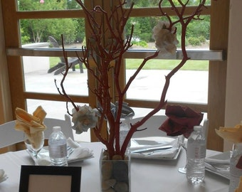 Wedding Tree Centerpiece with Glass Vase