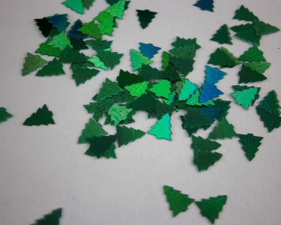 Emerald HOLO TREES Nail Glitter - Christmas - Sample