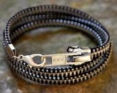 Original Black Zipper Wrap Bracelet