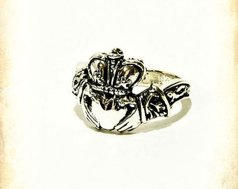 Claddagh Medieval wedding ring - Sterling silver 925