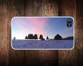 Landscape Winter Sunset iPhone 4/4S and 5 case - iPhone 4 case, iPhone 4s Case, iPhone 5 case, Cell phone case